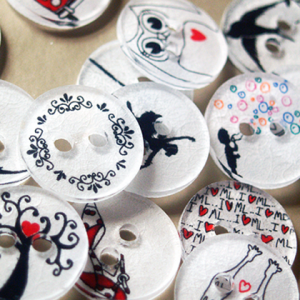 plastic buttons made from shrink plastic