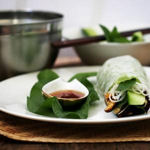 vietnamese wrap, fresh spring rolls