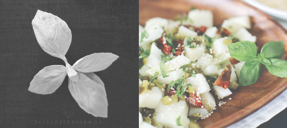 vegan potato salad with avocado dressing